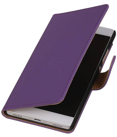 Huawei Huawei Ascend P8 Paars | bookstyle / book case/ wallet case Hoes  | WN™ - hoesjeshoek