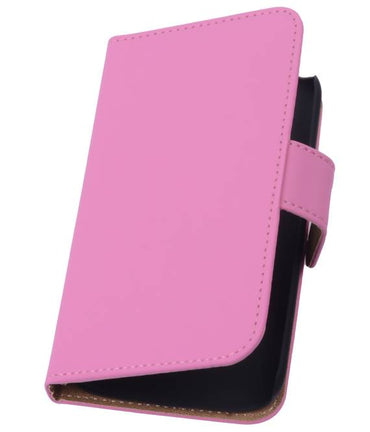 Alcatel One Touch M'pop OT-5020 Roze | bookstyle / book case/ wallet case Hoes  | WN™ - hoesjeshoek