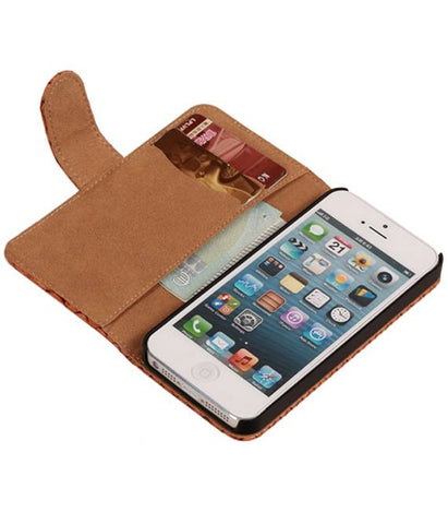 iPhone 6 Plus Bruin | Snake bookstyle / book case/ wallet case Hoes  | WN™ - hoesjeshoek