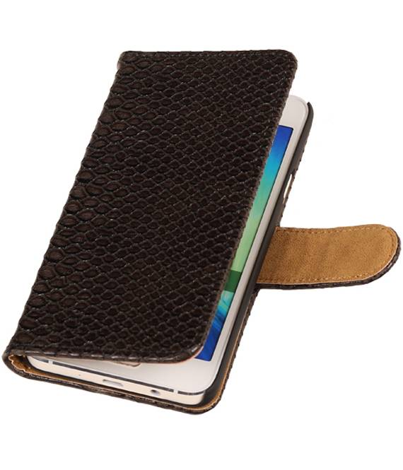 Samsung Galaxy Prime G530F Zwart | Snake bookstyle / book case/ wallet case Hoes  | WN™ - hoesjeshoek