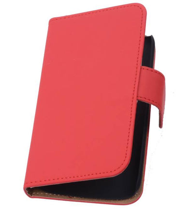 Alcatel One Touch M'pop OT-5020 Rood | bookstyle / book case/ wallet case Hoes  | WN™ - hoesjeshoek