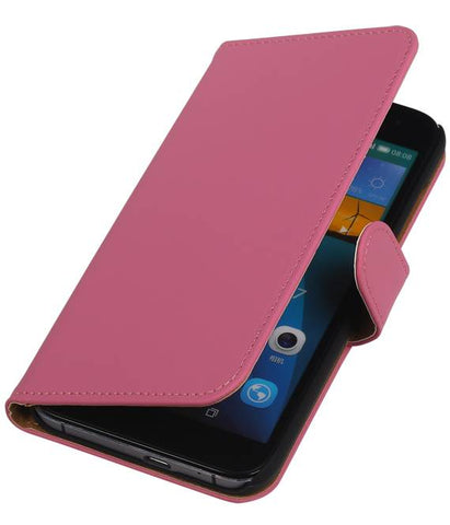 Huawei Huawei Ascend G7 Pink | bookstyle / book case/ wallet case Hoes  | WN™ - hoesjeshoek