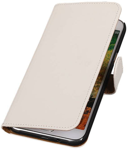 Samsung Galaxy E7 Wit | bookstyle / book case/ wallet case Hoes  | WN™ - hoesjeshoek