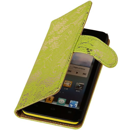 Huawei Huawei Ascend G630 Groen | Lace bookstyle / book case/ wallet case Hoes  | WN™ - hoesjeshoek