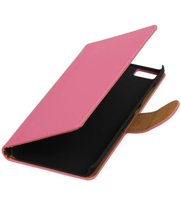 Wiko Lenny 2 Roze | bookstyle / book case/ wallet case Hoes  | WN™ - hoesjeshoek