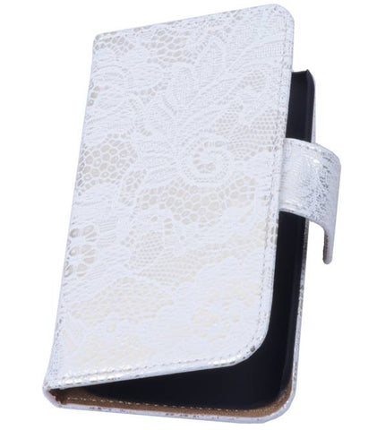 Huawei Huawei Ascend P7 Wit | Lace bookstyle / book case/ wallet case Hoes  | WN™ - hoesjeshoek
