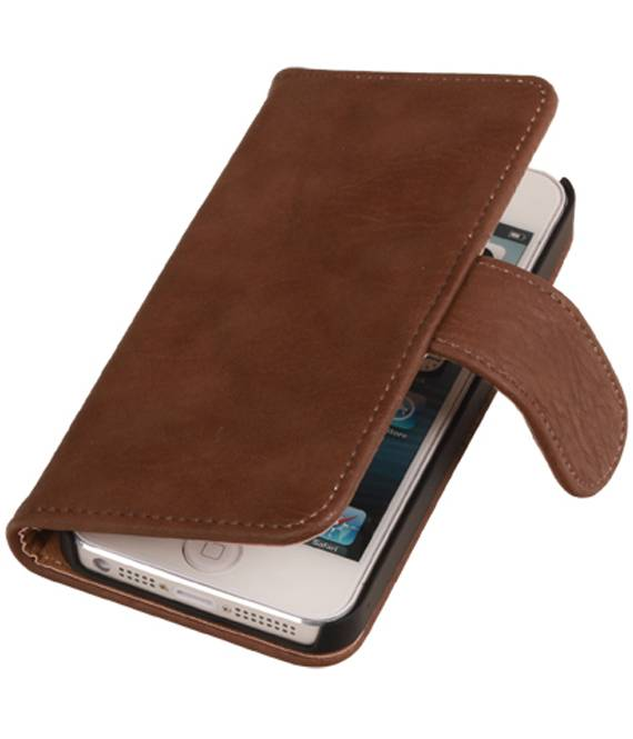 iPhone 6 Plus Bruin | Bark bookstyle / book case/ wallet case Hoes  | WN™ - hoesjeshoek