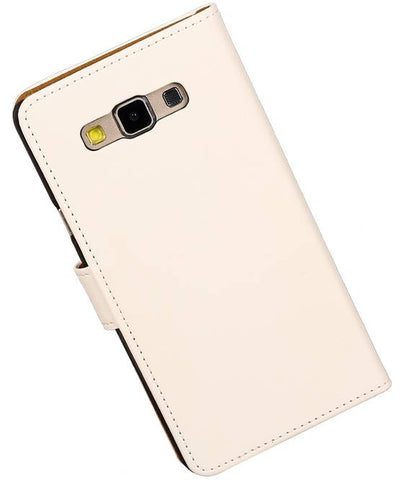 Samsung galaxy a7 2015 Wit | bookstyle / book case/ wallet case Hoes  | WN™ - hoesjeshoek