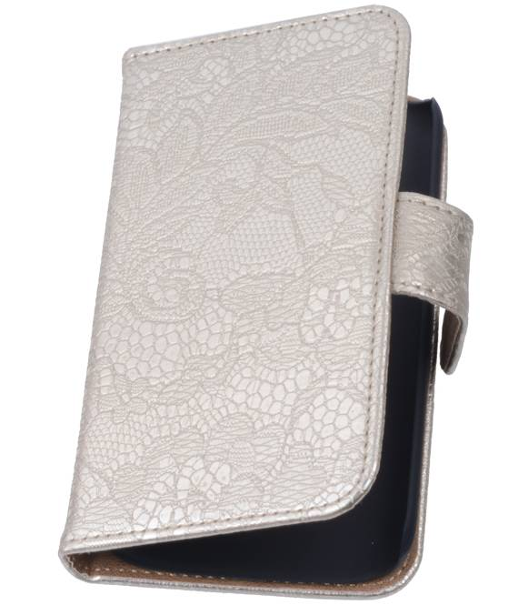 Huawei Huawei Ascend G6 4G Goud | Lace bookstyle / book case/ wallet case Hoes  | WN™ - hoesjeshoek
