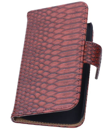 Acer Liquid Z5 Rood | Snake bookstyle / book case/ wallet case Hoes  | WN™ - hoesjeshoek