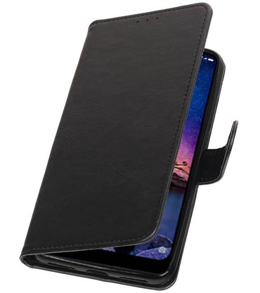 XiaoMi Redmi Note 6 Pro Zwart | Premium bookstyle / book case/ wallet case  | WN™ - hoesjeshoek