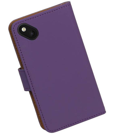 Wiko Sunset 2 Paars | bookstyle / book case/ wallet case Hoes  | WN™ - hoesjeshoek