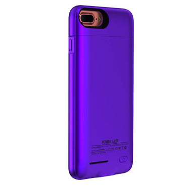 iPhone 6 / 6s / 7 3000 mAh Paars | Powerbank case hoes  | WN™ - hoesjeshoek