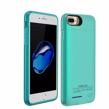 iPhone 6 / 6s / 7 3000 mAh Blauw | Powerbank case hoes  | WN™ - hoesjeshoek