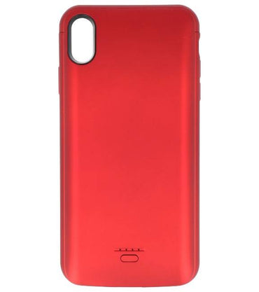iPhone XS Max 5000 mAh Audio Rood | Powerbank case hoes  | WN™ - hoesjeshoek