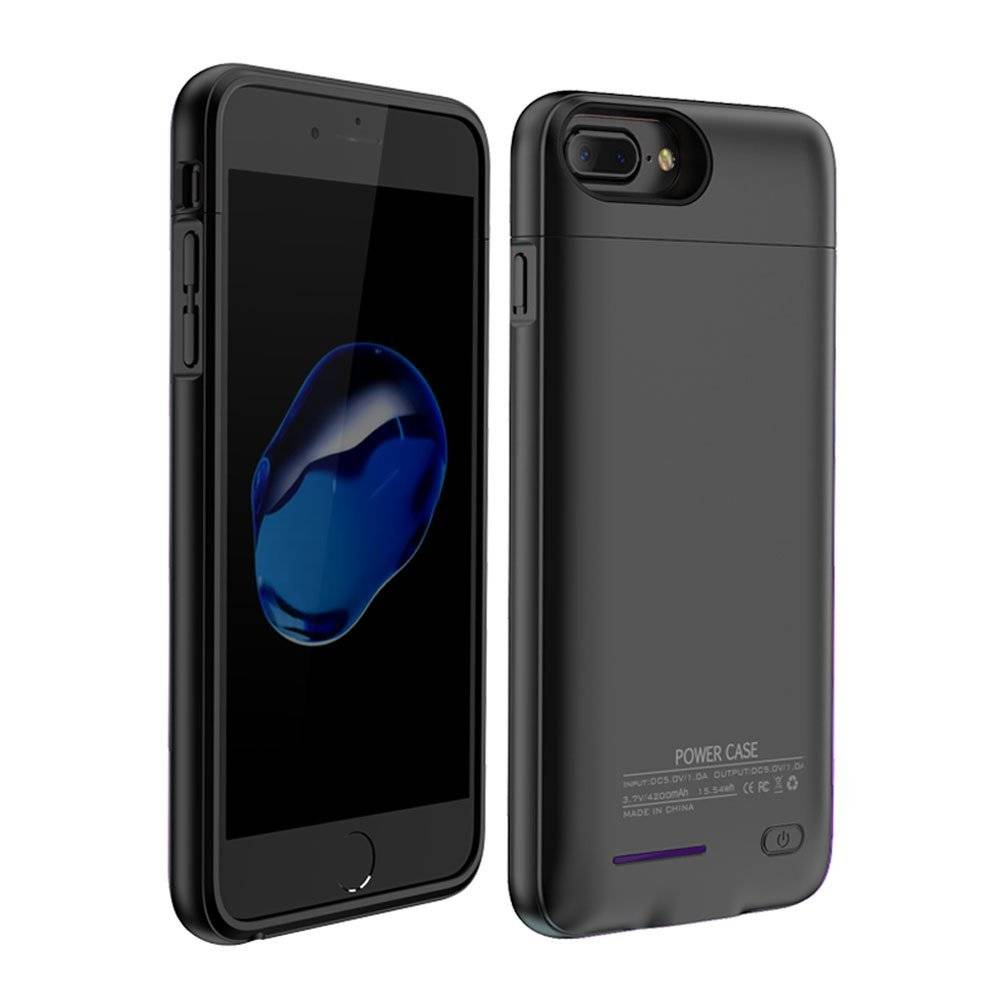 iPhone 6 / 6s / 7 3000 mAh Zwart | Powerbank case hoes  | WN™ - hoesjeshoek