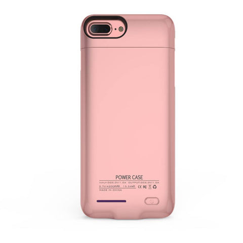 iPhone 6 / 6s / 7 3000 mAh Roze | Powerbank case hoes  | WN™ - hoesjeshoek