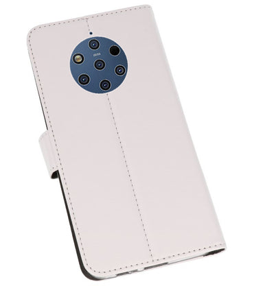 Nokia 9 PureView Wit | Wallet Case Hoesje  | WN™ - hoesjeshoek