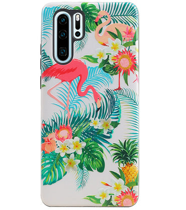 Huawei P30 Pro | Flamingo Design Hardcase Backcover  | WN™ - hoesjeshoek
