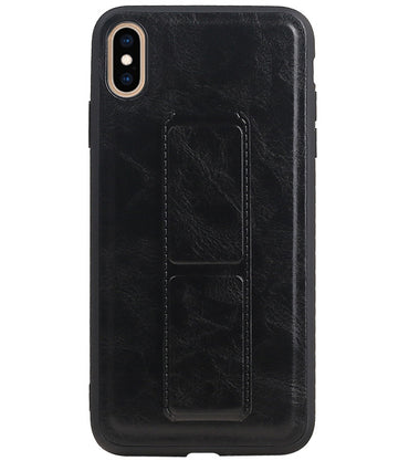 iPhone XS Max Zwart | Grip Stand Hardcase Backcover  | WN™ - hoesjeshoek