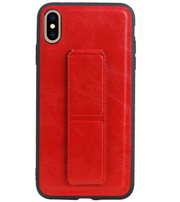 iPhone XS Max Rood | Grip Stand Hardcase Backcover  | WN™ - hoesjeshoek
