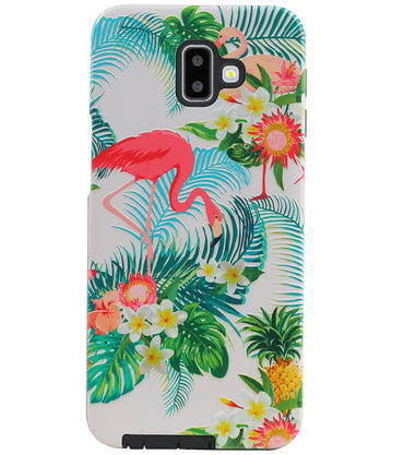 Samsung Samsung Galaxy J6 Plus | Flamingo Design Hardcase Backcover  | WN™ - hoesjeshoek