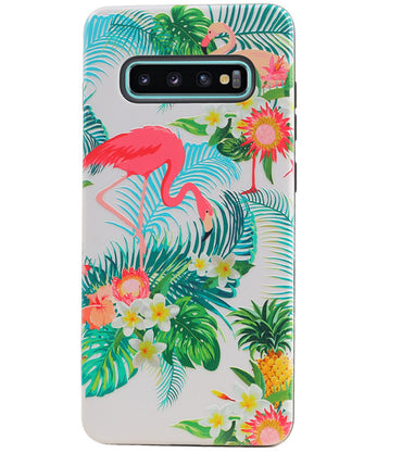 Samsung Samsung Galaxy S10 Plus | Flamingo Design Hardcase Backcover  | WN™ - hoesjeshoek