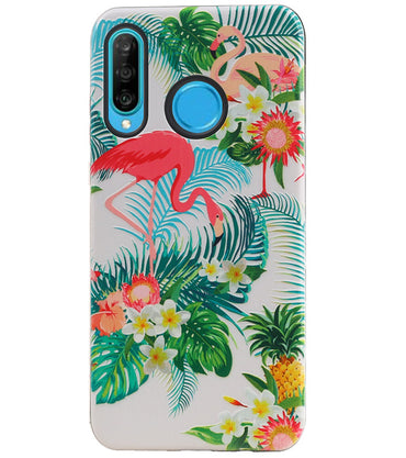 Huawei P30 Lite / Nova 4E | Flamingo Design Hardcase Backcover  | WN™ - hoesjeshoek