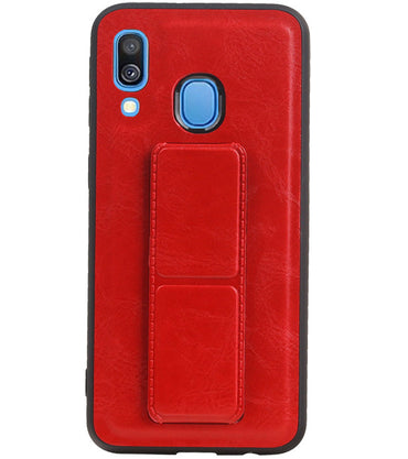 Samsung Samsung Galaxy A40 Rood | Grip Stand Hardcase Backcover  | WN™ - hoesjeshoek