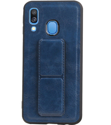 Samsung Samsung Galaxy A40 Blauw | Grip Stand Hardcase Backcover  | WN™ - hoesjeshoek