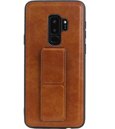 Samsung Samsung Galaxy S9 Plus Bruin | Grip Stand Hardcase Backcover  | WN™ - hoesjeshoek