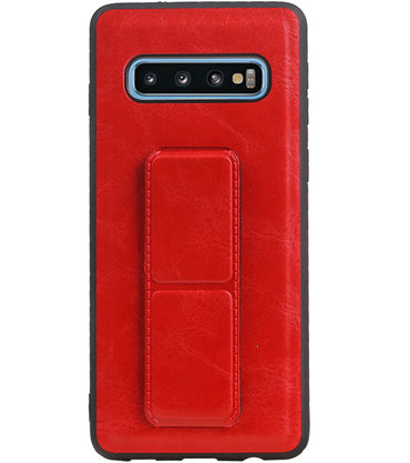 Samsung Samsung Galaxy S10 Rood | Grip Stand Hardcase Backcover  | WN™ - hoesjeshoek