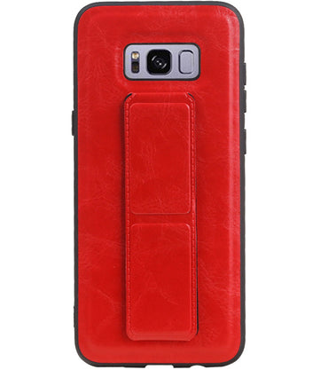 Samsung Samsung Galaxy S8 Plus Rood | Grip Stand Hardcase Backcover  | WN™ - hoesjeshoek