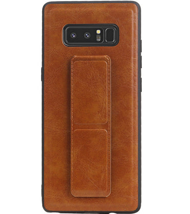 Samsung Samsung Galaxy Note 8 Bruin | Grip Stand Hardcase Backcover  | WN™ - hoesjeshoek