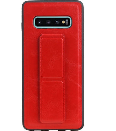 Samsung Samsung Galaxy S10 Plus Rood | Grip Stand Hardcase Backcover  | WN™ - hoesjeshoek