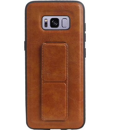 Samsung Samsung Galaxy S8 Bruin | Grip Stand Hardcase Backcover  | WN™ - hoesjeshoek