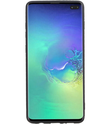 Samsung Samsung Galaxy S10 Plus Zwart | Grip Stand Hardcase Backcover  | WN™ - hoesjeshoek