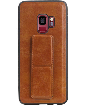 Samsung Samsung Galaxy S9 Bruin | Grip Stand Hardcase Backcover  | WN™ - hoesjeshoek