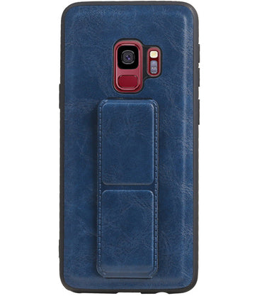 Samsung Samsung Galaxy S9 Blauw | Grip Stand Hardcase Backcover  | WN™ - hoesjeshoek