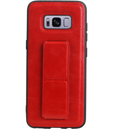 Samsung Samsung Galaxy S8 Rood | Grip Stand Hardcase Backcover  | WN™ - hoesjeshoek