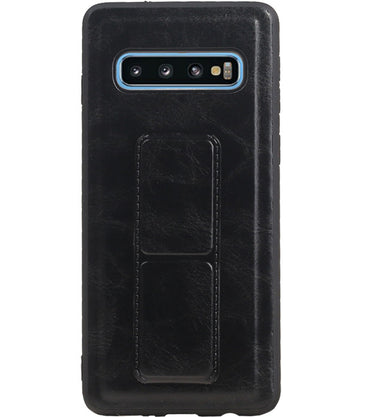 Samsung Samsung Galaxy S10 Blauw | Grip Stand Hardcase Backcover  | WN™ - hoesjeshoek