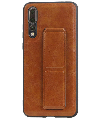 Huawei P20 Pro Bruin | Grip Stand Hardcase Backcover  | WN™ - hoesjeshoek