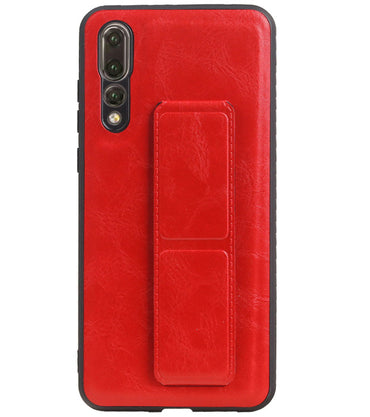 Huawei P20 Pro Rood | Grip Stand Hardcase Backcover  | WN™ - hoesjeshoek