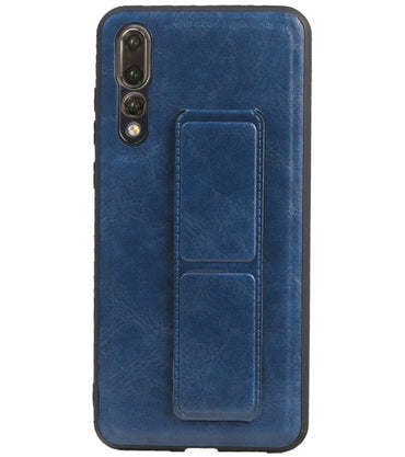 Huawei P20 Pro Blauw | Grip Stand Hardcase Backcover  | WN™ - hoesjeshoek