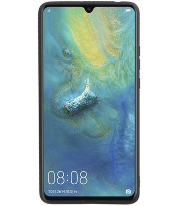 Huawei Mate 20 X Blauw | Grip Stand Hardcase Backcover  | WN™ - hoesjeshoek