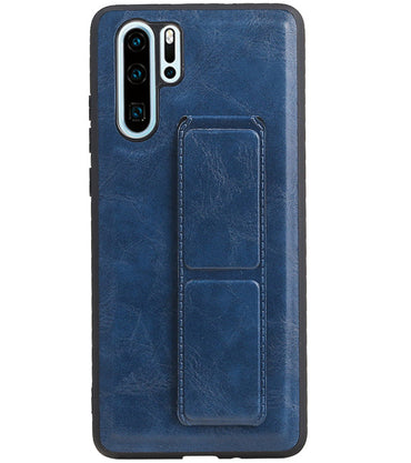 Huawei P30 Pro Blauw | Grip Stand Hardcase Backcover  | WN™ - hoesjeshoek