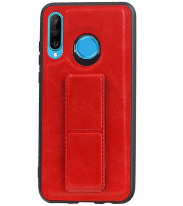 Huawei P20 Lite Rood | Grip Stand Hardcase Backcover  | WN™ - hoesjeshoek