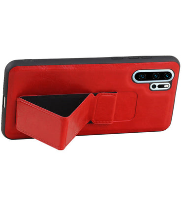Huawei P30 Pro Rood | Grip Stand Hardcase Backcover  | WN™ - hoesjeshoek