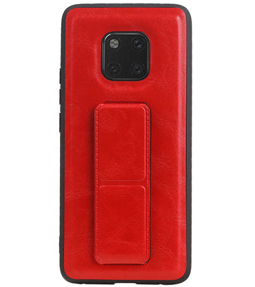 Huawei Mate 20 Pro Rood | Grip Stand Hardcase Backcover  | WN™ - hoesjeshoek