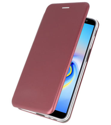 Samsung Samsung Galaxy J6 Plus Bordeaux Rood | Slim Folio Case  | WN™ - hoesjeshoek
